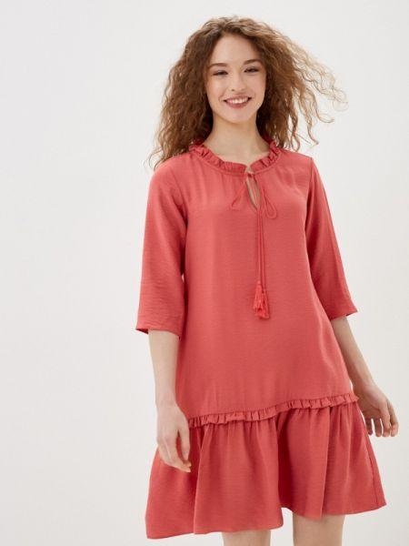 Платье прямое красный Adl