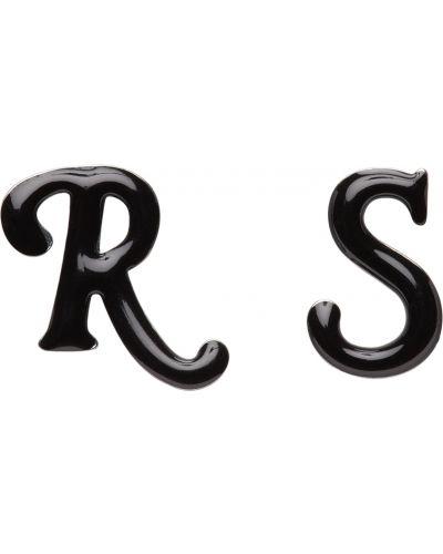 Kolczyki sztyfty srebrne - czarne Raf Simons