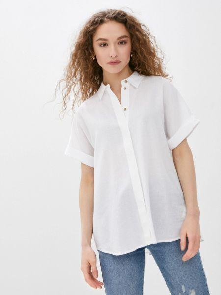 Блузка с коротким рукавом белая весенний Baon