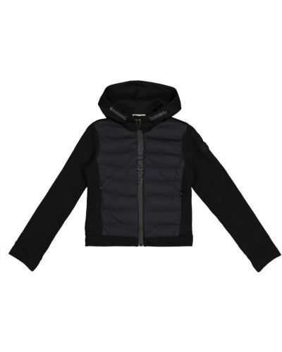 Черная стеганая пуховая куртка Moncler Enfant