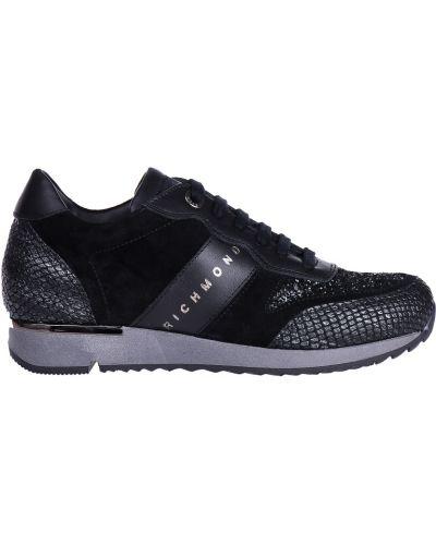 Черные кроссовки замшевые Richmond