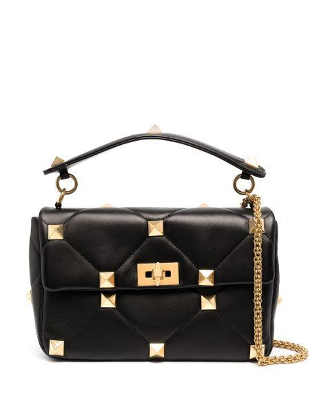 Кожаная сумка - черная Valentino Garavani