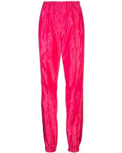 Розовые спортивные брюки с воротником с манжетами Dilara Findikoglu