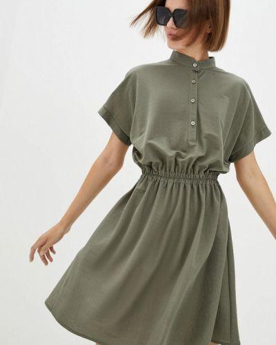 Прямое зеленое платье 7arrows