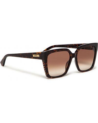 Brązowe okulary Moschino