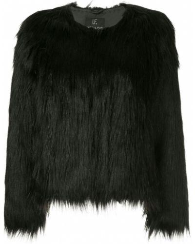 Черная длинная шуба из искусственного меха Unreal Fur
