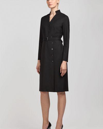 Платье миди деловое с поясом Vassa&co