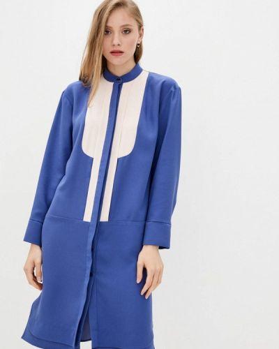 Синее платье рубашка Dolcedonna