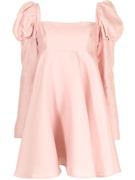 Шерстяное платье макси - розовое Macgraw