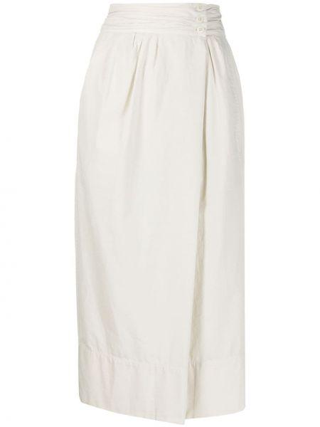 Spódnica maxi asymetryczny z guzikami Lemaire