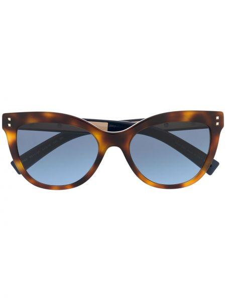 Прямые муслиновые солнцезащитные очки хаки Valentino Eyewear