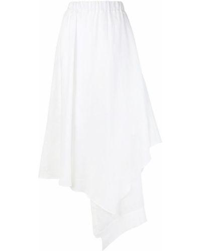 Юбка миди асимметричная белая Balossa White Shirt