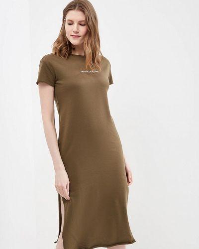 Платье весеннее хаки Piazza Italia