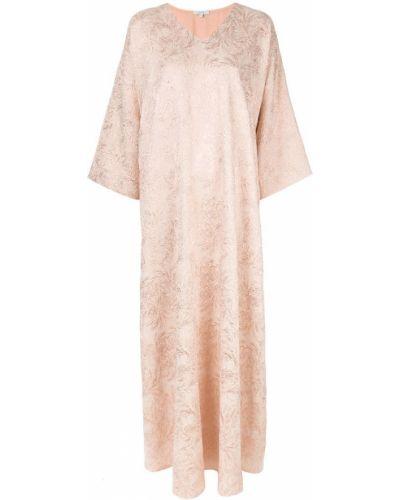 Вечернее платье свободного кроя с V-образным вырезом Layeur