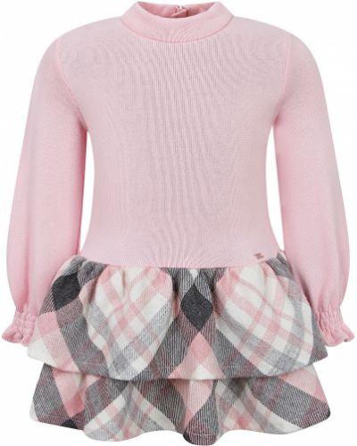 Розовое платье из полиэстера Mayoral