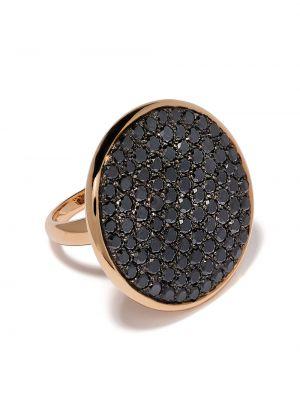 Черное кольцо с бриллиантом Leo Pizzo
