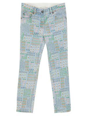 Хлопковые джинсы - синие Stella Mccartney Kids