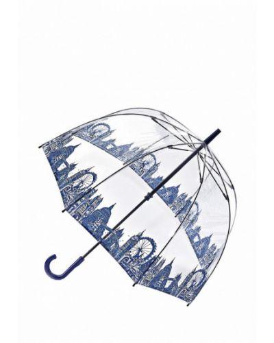 Голубой зонт-трость Fulton