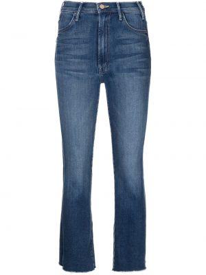 Джинсовые синие укороченные джинсы Mother