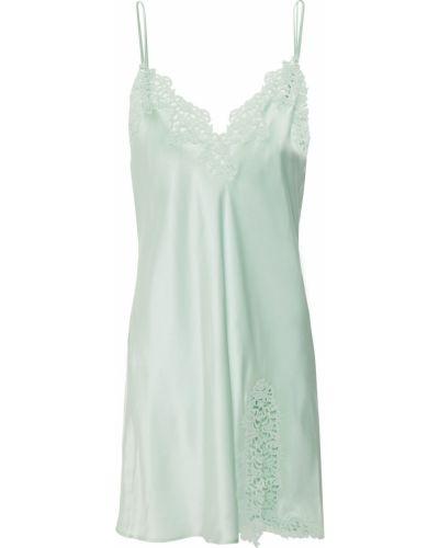 Koszula nocna koronkowa - zielona La Perla