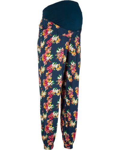 Свободные брюки для беременных в цветочный принт Bonprix