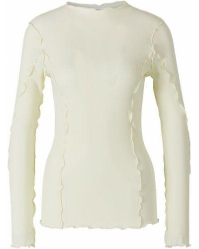 Beżowa koszulka prążkowana Rodebjer