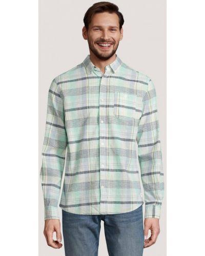 Бирюзовая рубашка с длинными рукавами Tom Tailor