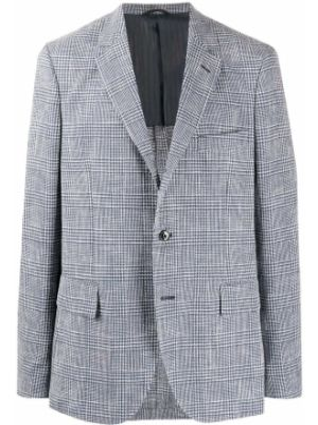 Klasyczna niebieska długa kurtka bawełniana Mp Massimo Piombo