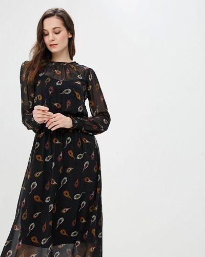 Платье осеннее черное Modis