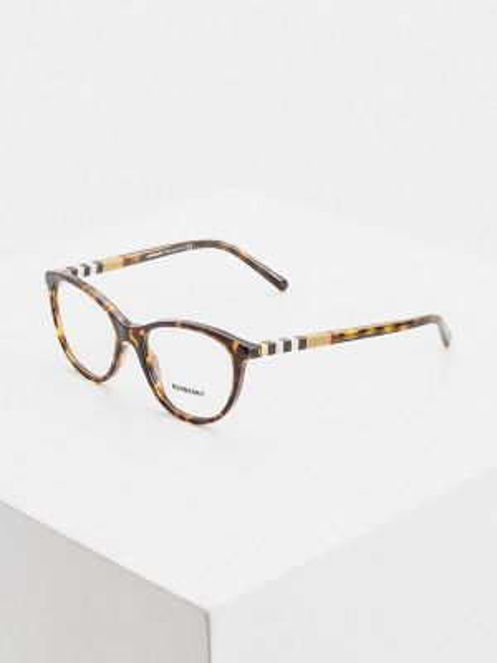 Коричневые очки круглые Burberry