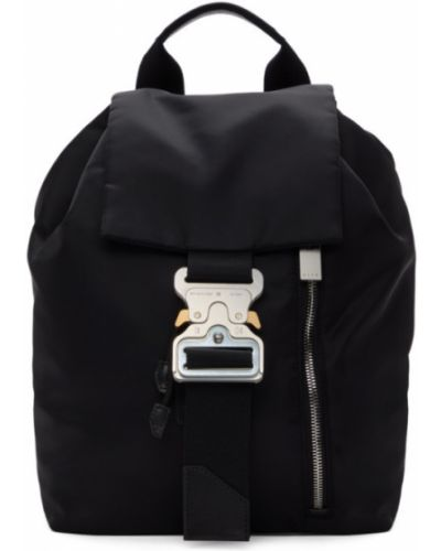 Черный кожаный рюкзак с карманами 1017 Alyx 9sm
