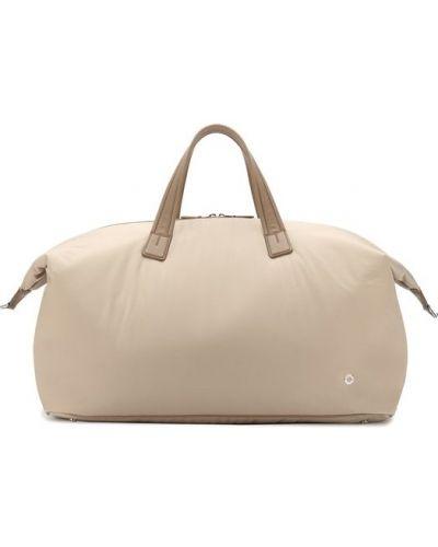 Дорожная сумка кожаная текстильная Loro Piana