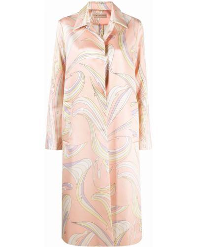 Розовое пальто с карманами Emilio Pucci