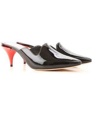 Sandały czarne czerwony Alexander Mcqueen