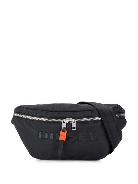 Черная поясная сумка с поясом Diesel