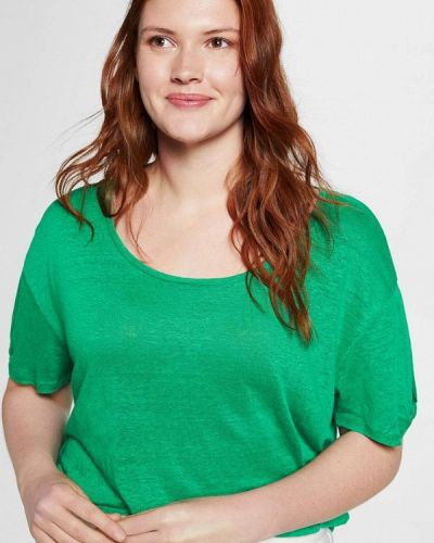 Зеленая футболка Violeta By Mango