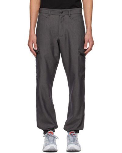 Черные брюки карго с поясом с манжетами Affix