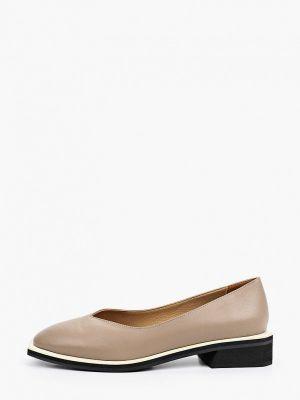 Бежевые кожаные туфли Hestrend