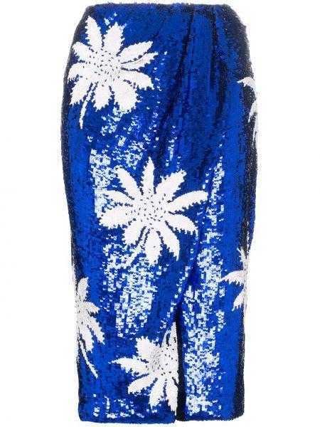 Синяя с завышенной талией юбка с пайетками Filles A Papa