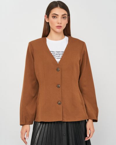 Пиджак классический - коричневый Selected Femme