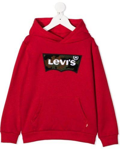 Красная толстовка с логотипом с капюшоном 12 лет Levi`s Kids
