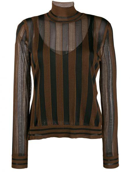 Свитер длинный со спущенным плечом Fendi
