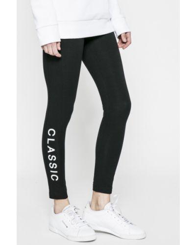 Черные брюки на резинке Reebok