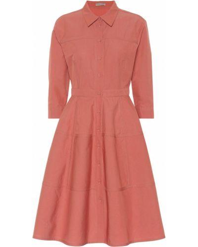 Платье мини розовое платье-майка Bottega Veneta