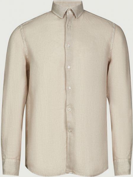Рубашка на пуговицах - бежевая Lab. Pal Zileri