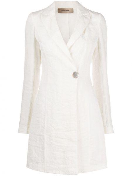 Прямой белый удлиненный пиджак на пуговицах Gentry Portofino