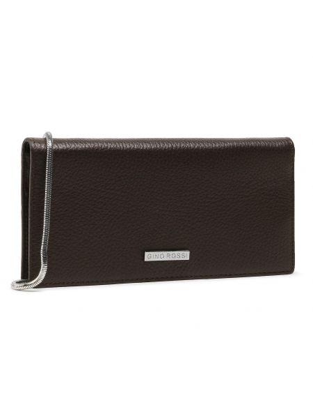 Brązowy portfel oversize Gino Rossi