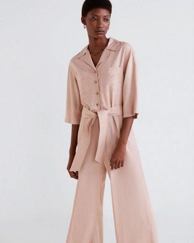 Брючный комбинезон 2019 розовый Mango