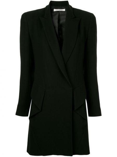 Черный удлиненный пиджак на пуговицах Bianca Spender