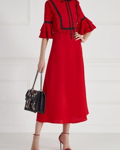 Платье миди с воротником с оборками Vivetta